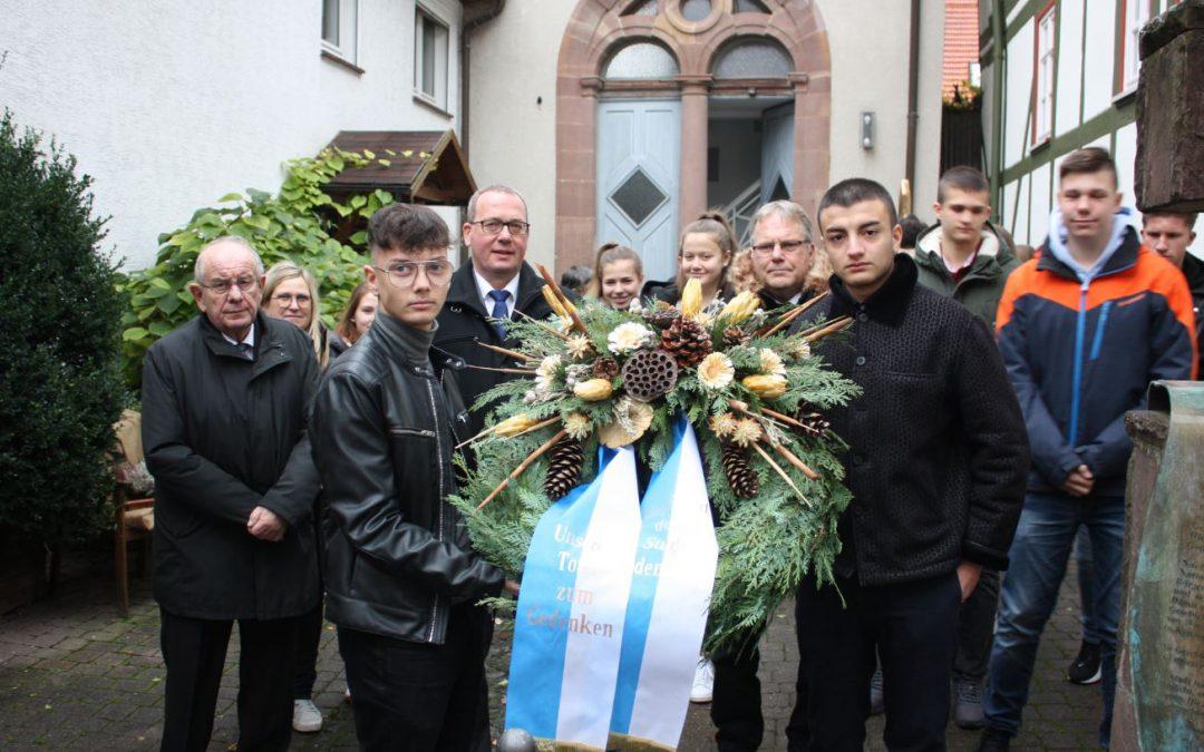 """""""Durch Partnerschaftsarbeit zur Aussöhnung beitragen"""" Gedenkfeiern zum Volkstrauertag am 17. November 2019 in Gudensberg"""